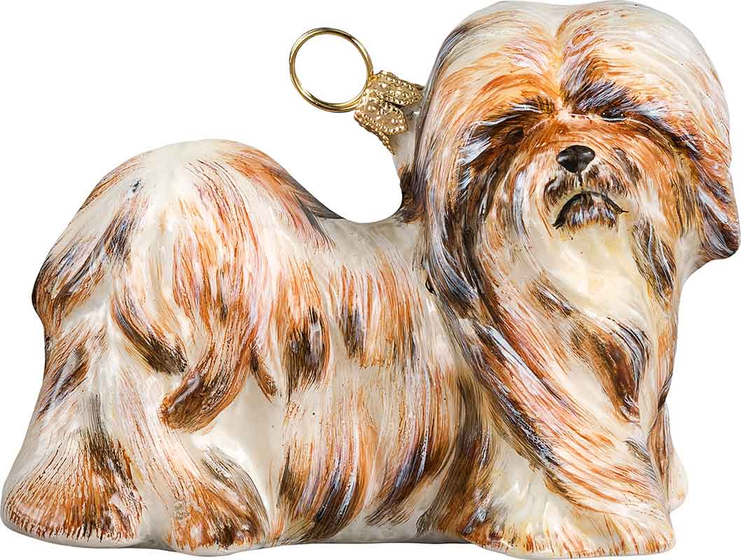 Lhasa Apso Brown White Dog Ornament Jtw Ps 4093 Anythingdogs Com