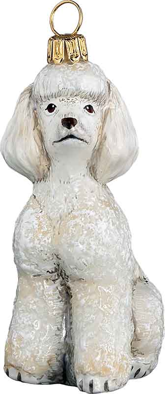 Poodle Toy White Dog Ornament