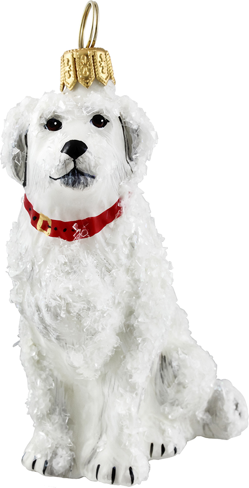 Great Pyrenees Snowy Dog Ornament