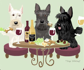 Dogs WINEing Prints by Sara England | Anything Dogs