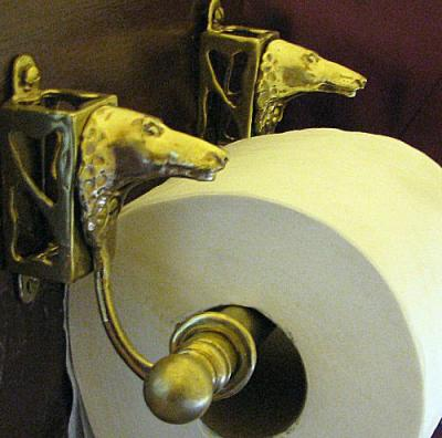 Borzoi Bronze Paper Holder