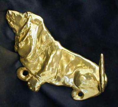 Basset Hound Bronze Dog Hook