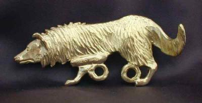 Border Collie Bronze Dog Hook