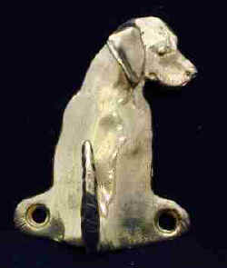 Beagle Bronze Dog Hook