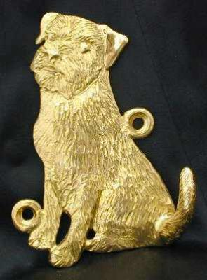 Border Terrier Bronze Dog Hook