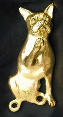 Boston Terrier Bronze Dog Hook