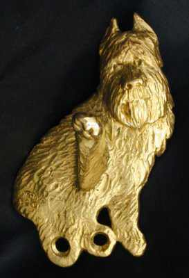 Bouvier des Flandres Bronze Dog Hook