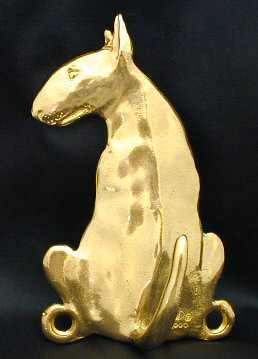 Bull Terrier Bronze Dog Hook
