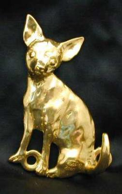 Chihuahua - Smooth Hair Bronze Dog Hook