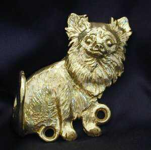Chihuahua - Long Hair Bronze Dog Hook