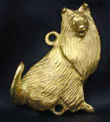 Collie - Rough Bronze Dog Hook