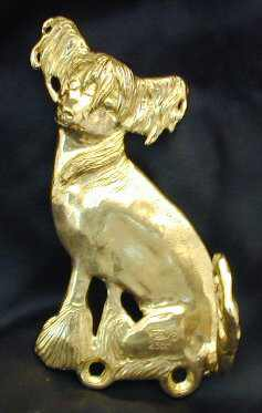 Chinese Crested Bronze Dog Hook