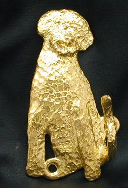 Portuguese Water Dog - Curly Bronze Dog Hook