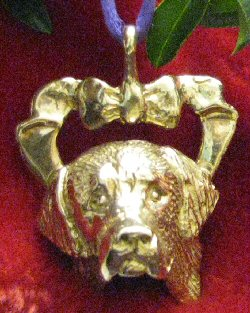 Bernese Mountain Dog Bronze Ornament