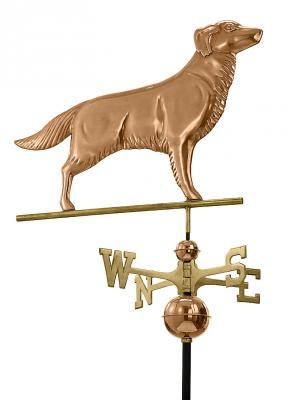 Copper Golden Retriever Weathervane