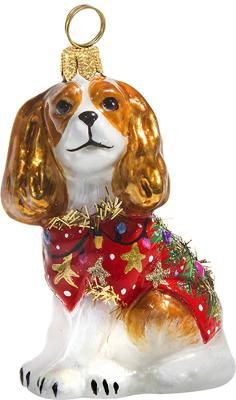 Cavalier King Charles in Ugly Christmas Sweater