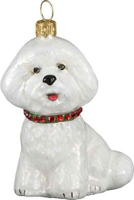 Bichon Frise <br /> w/Red &amp; Green Jeweled Collar