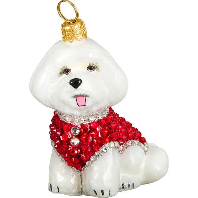 Bichon Frise in Full Crystal Coat