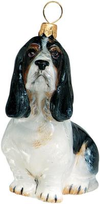 Basset Hound Sitting Dog Ornament