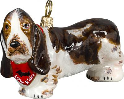 Basset Hound w/Bandana Dog Ornament