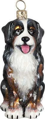 Bernese Mt Dog Sitting Dog Ornament