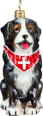 Bernese Mt Dog w/Bandana Dog Ornament