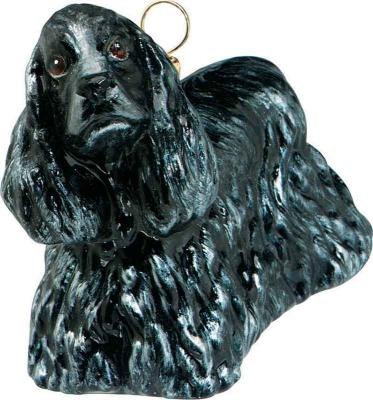 Cocker Spaniel (Black) Dog Ornament