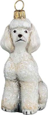 Poodle (Toy) White Dog Ornament