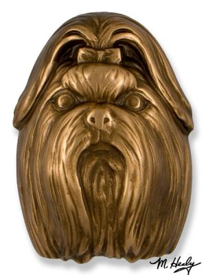 Shih Tzu Bronze Dog Knocker
