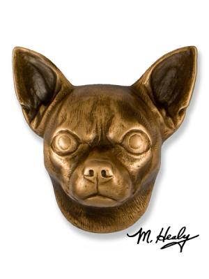 Chihuahua Bronze Dog Knocker