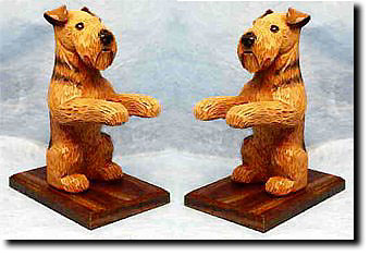 Airedale Terrier  Dog Breed Book Ends
