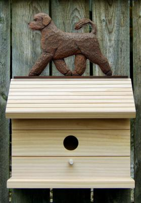 Portuguese Water Dog Bird House - Brown