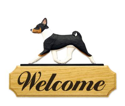 Basenji Dog Welcome Sign - Tri