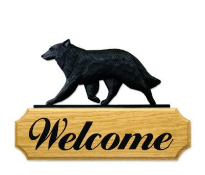 Belgian Sheepdog Dog Welcome Sign
