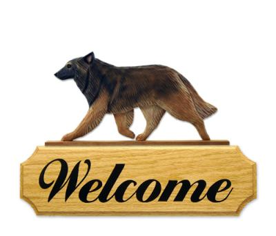 Belgian Tervuren Dog Welcome Sign