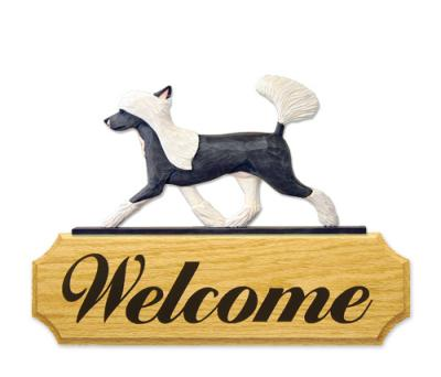 Chinese Crested Welcome Sign