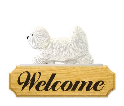 Coton de Tulear Welcome Sign - White