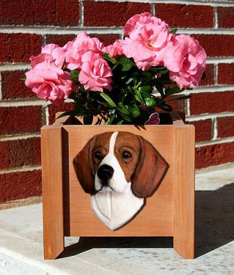 Beagle Dog Garden Planter - Tri