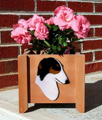 Borzoi Dog Garden Planter - Tri