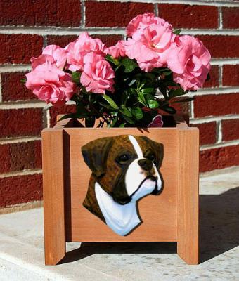 Boxer (Natural) Dog Garden Planter - Brindle