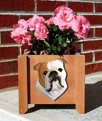 English Bulldog Garden Planter - Tan