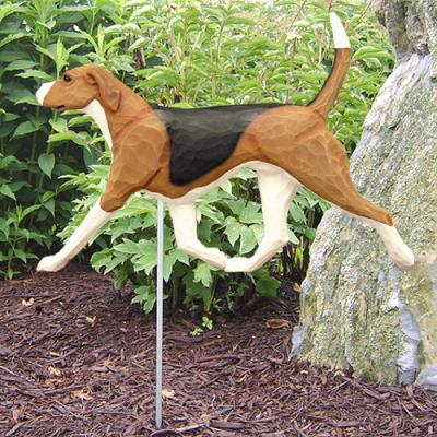 English Foxhound Dog Garden Stake