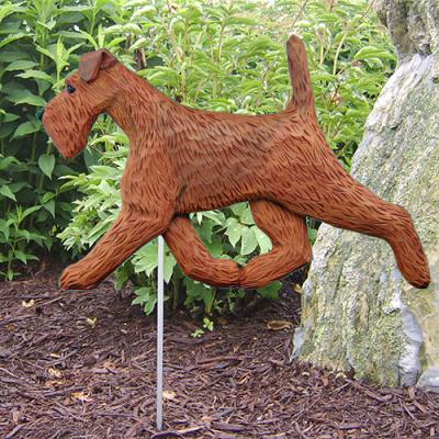 Irish Terrier Dog Garden Stake