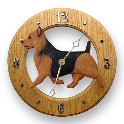 Australian Terrier Dog Wall Clock - Blue & Tan