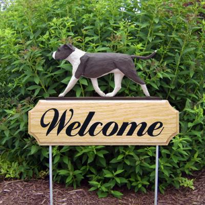 AmStaff Terrier (Natural) Welcome Stake - Blue/White