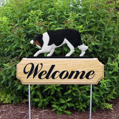 Border Collie Welcome Stake - Black