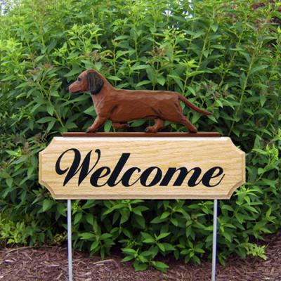 Smooth Dachshund Welcome Stake - Red