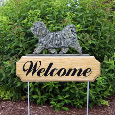 Havanese Welcome Stake - Light Grey