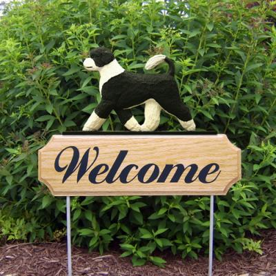 Portuguese Water Dog Welcome Stake