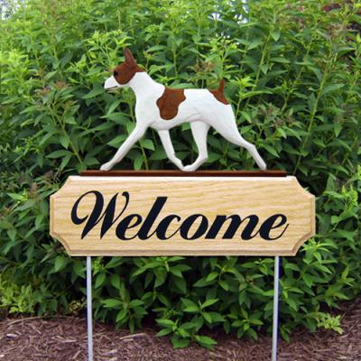Rat Terrier Welcome Stake - Red/White